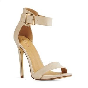 JaitFab nude suede heeled sandal size 11